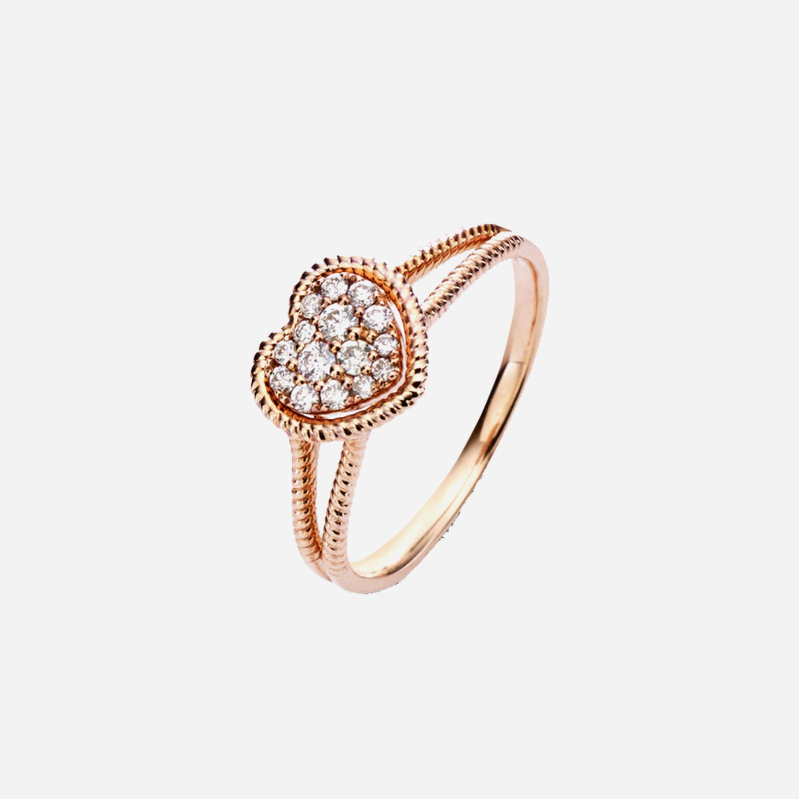 Rose Gold Heart-shaped Ring