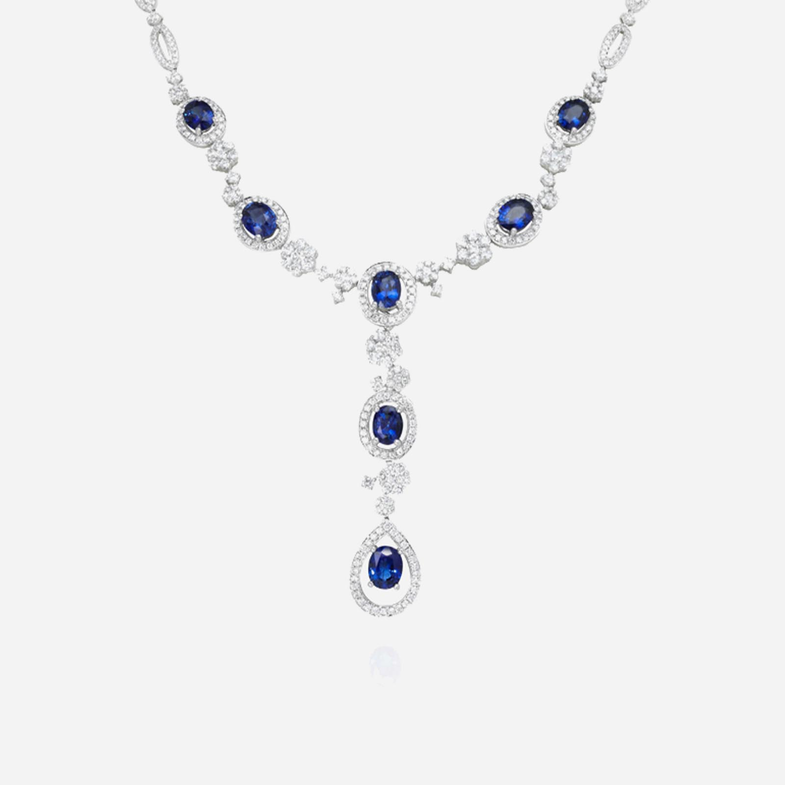 Bliss In Blue Sapphire Necklace