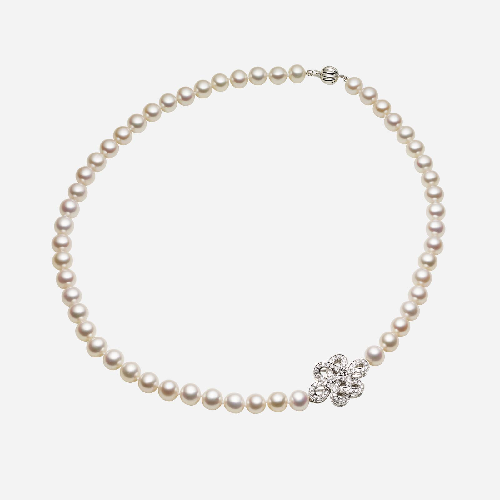 Eternity Knot Pearl Necklace