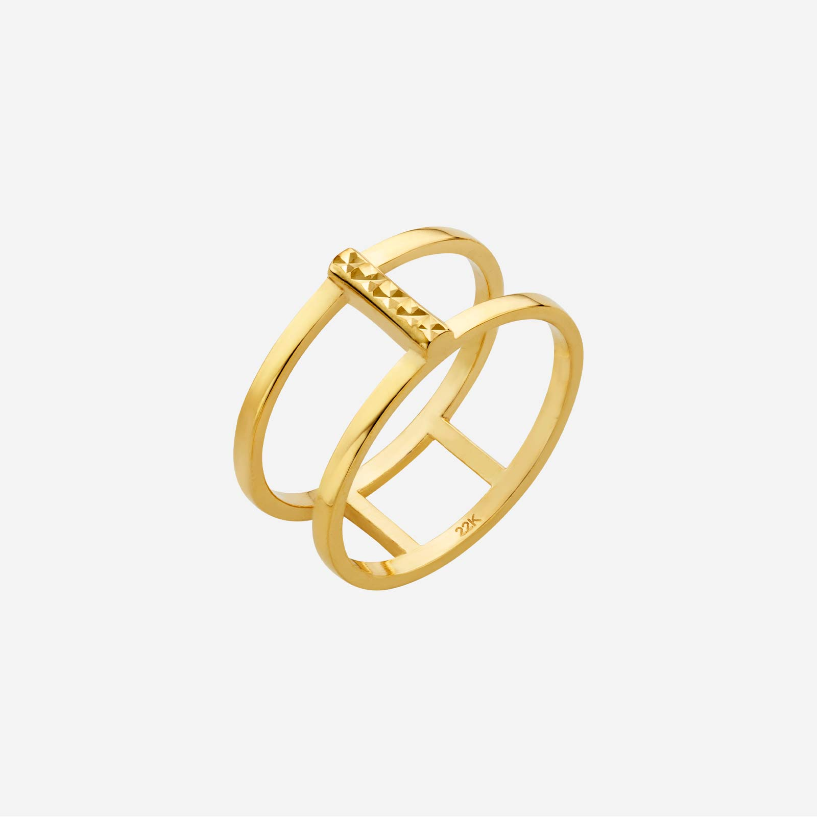 Freestyle Bar Double Stripe Ring
