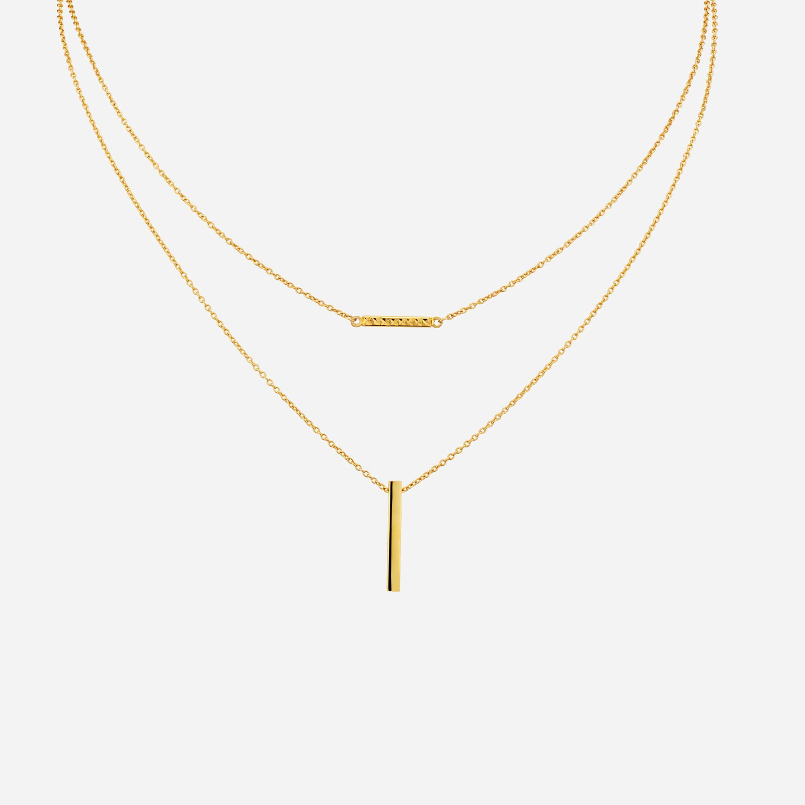 Freestyle Bar Double Chain Necklace