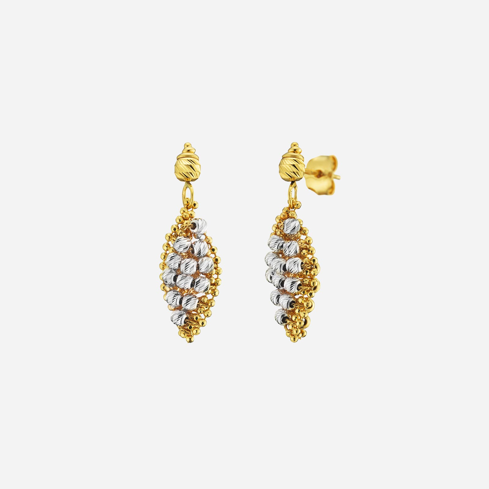 Duo Tone Beads Earrings
