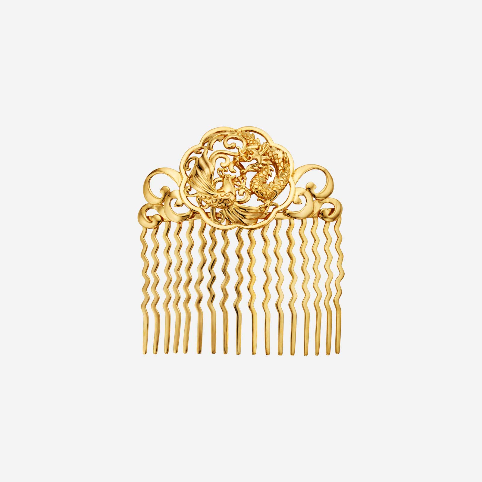 Dragon Phoenix Hair Comb