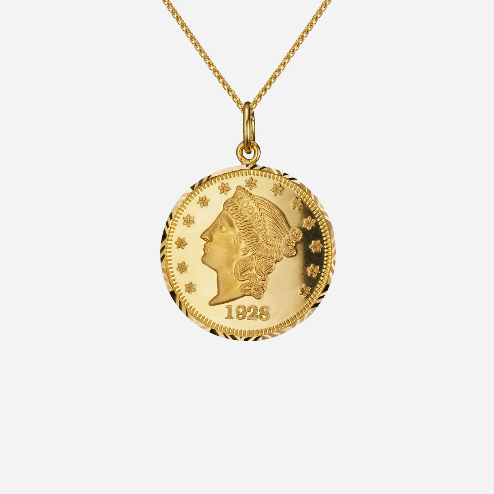 Lady Liberty Coin Pendant (15mm)