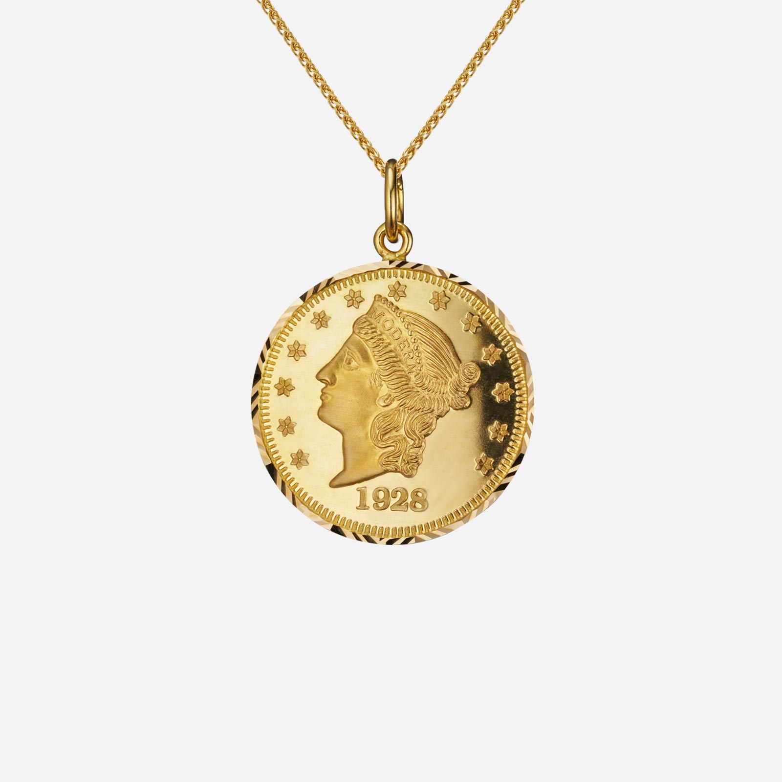 Lady Liberty Coin Pendant (19mm)