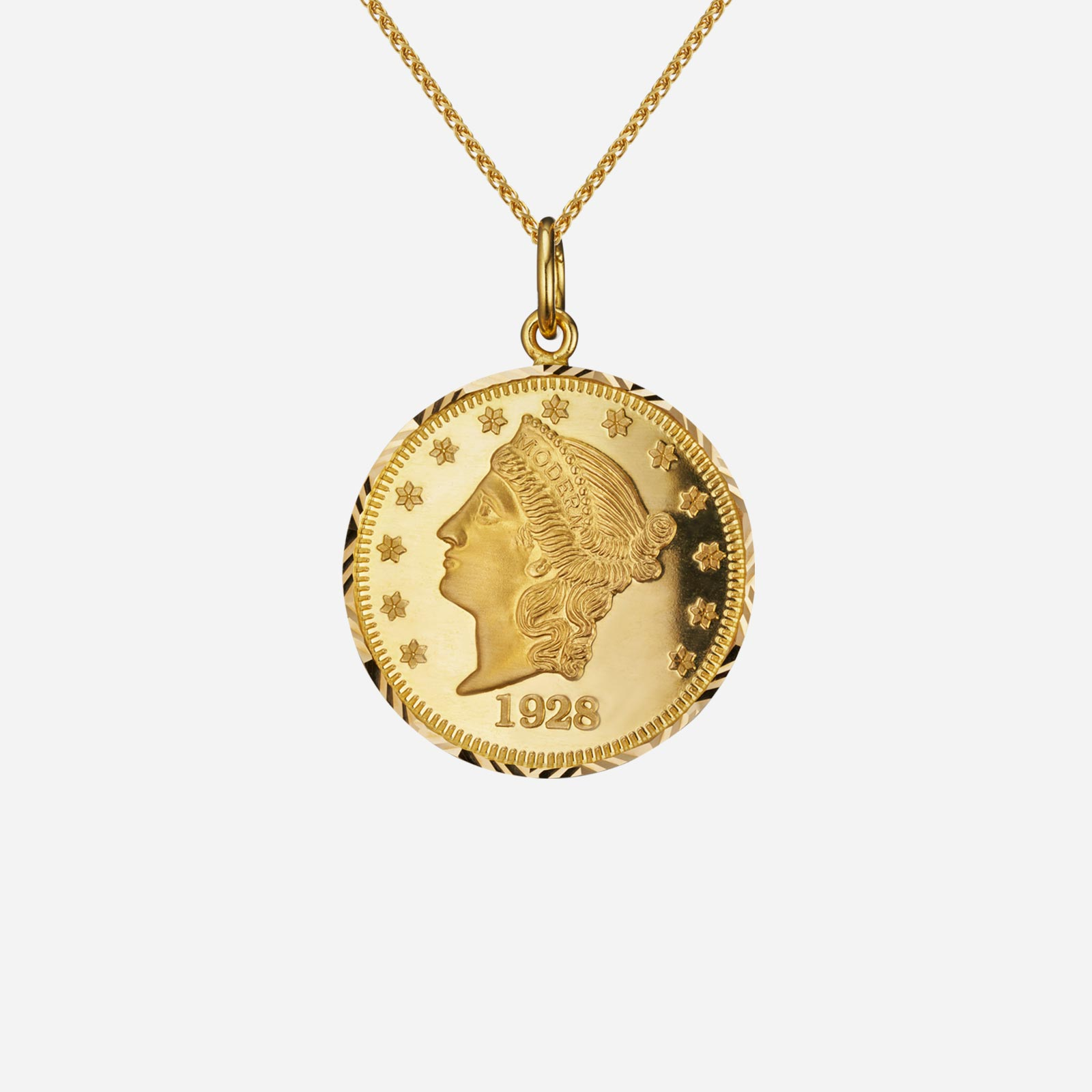 Lady Liberty Coin Pendant (28mm)