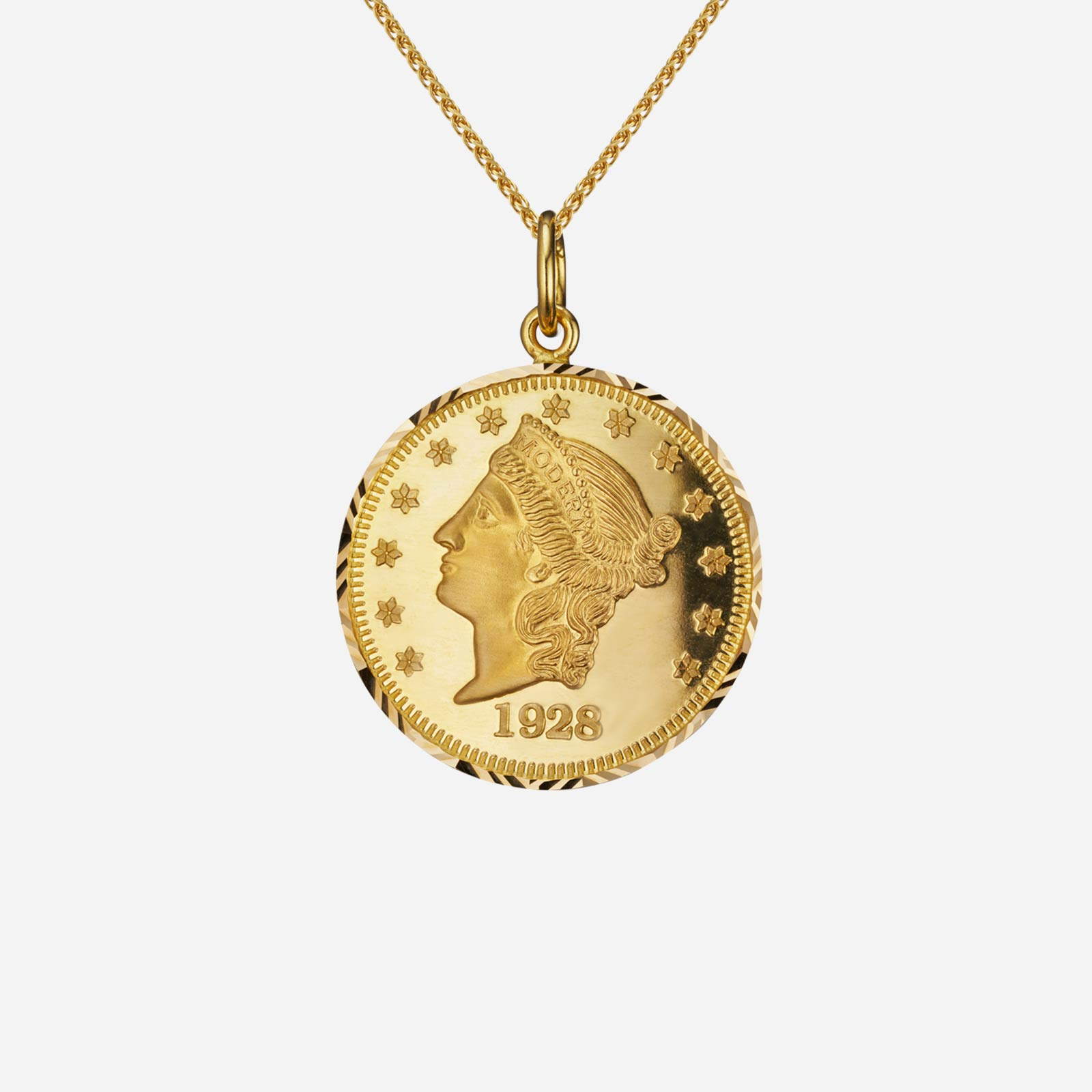 Lady Liberty Coin Pendant (35mm)
