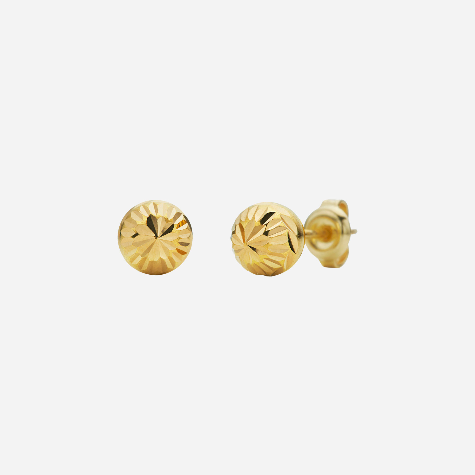 Gold Textured Earrings (4mm)
